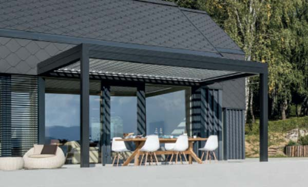 lamellend cher als verstellbare pergola. Black Bedroom Furniture Sets. Home Design Ideas
