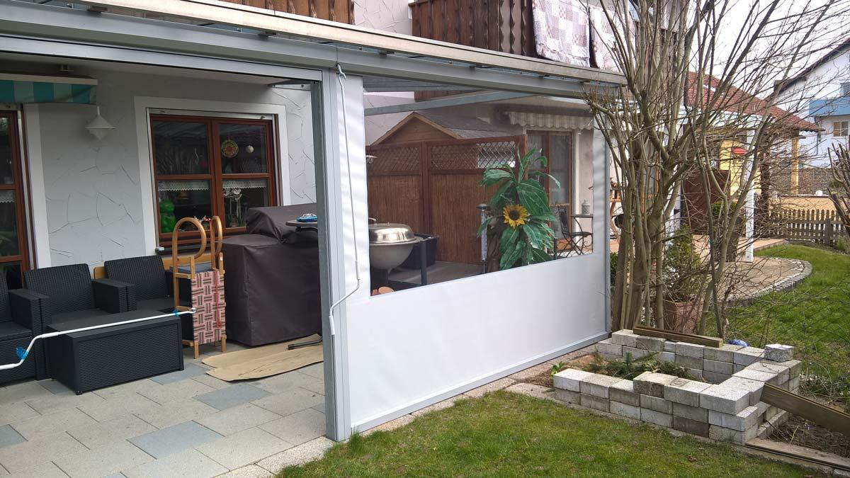 Allwetterschutz f r terrassen balkone freir ume ab - Terrassen seitenwand ...