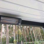 Infrarot-Heizstrahler für Lamellendächer