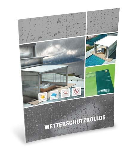 """""""Wetterschutzrollos""""-Prospekt"""
