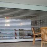 transparente Rolltore für Terrassen