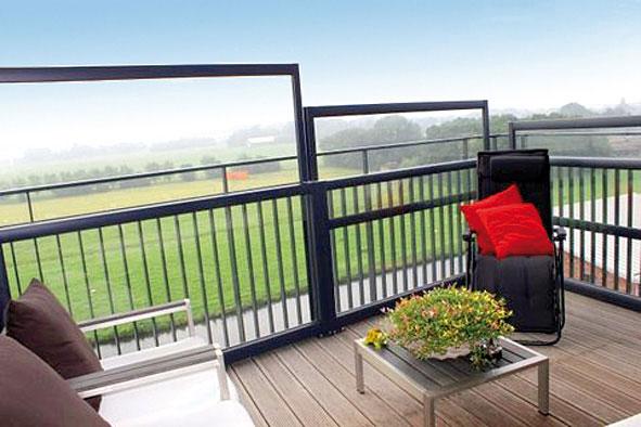 Windschutz Balkon Glas | Mobile Und Verfahrbare Windschutzwand Als Massanfertigung