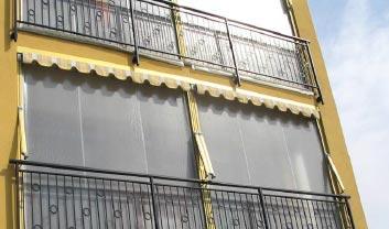 Wind- und Regenschutz für Balkone