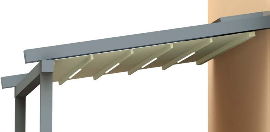 Faltdachmarkise mit LED Typ H