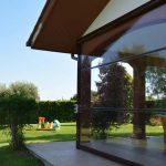 Windschutz Terrasse transparent