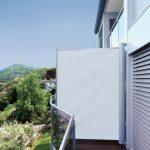 Balkon Windschutz seitlich