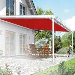 Terrassendach Sonnenschutz innen