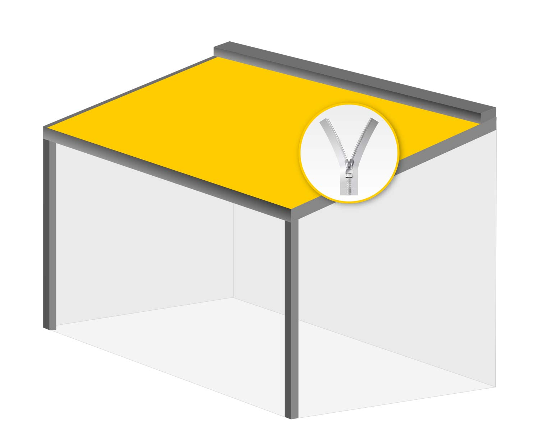 Terrasseneinhausung: Pergolamarkise zip