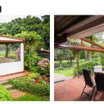 seitlicher Wetterschutz Terrasse