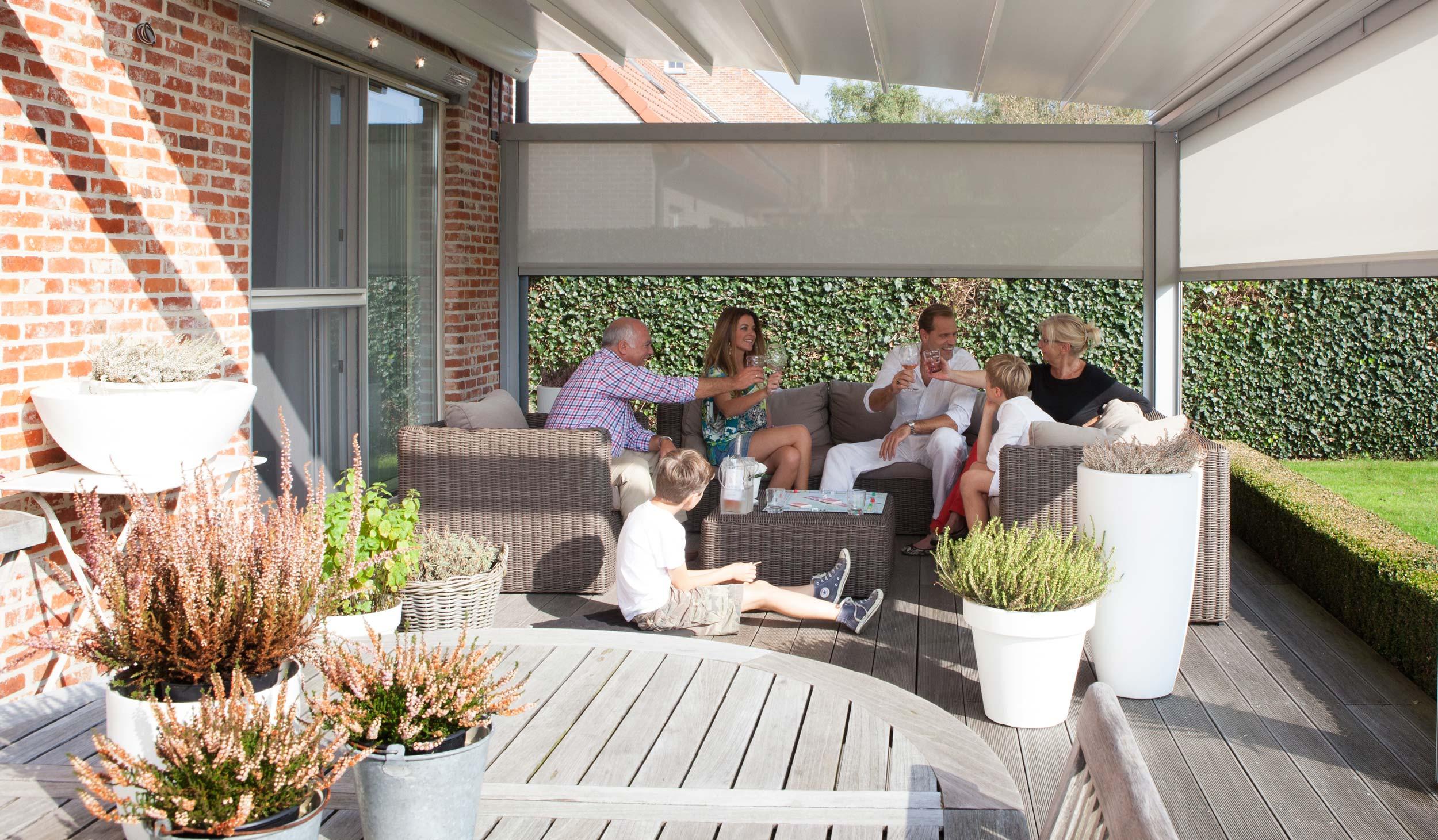 Terrassen-Einhausung